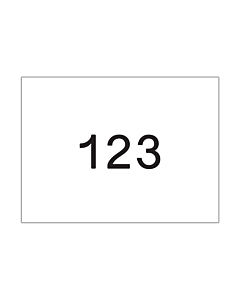 Startnummers Standaard, 210 x 150 mm