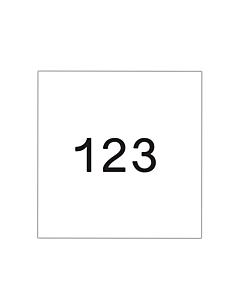 Startnummers Standaard, 160 x 180 mm